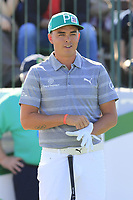 Rickie Fowler (USA) on the 1st tee during Saturday's Round 3 of the Waste Management Phoenix Open 2018 held on the TPC Scottsdale Stadium Course, Scottsdale, Arizona, USA. 3rd February 2018.<br /> Picture: Eoin Clarke | Golffile<br /> <br /> <br /> All photos usage must carry mandatory copyright credit (&copy; Golffile | Eoin Clarke)