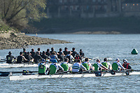 Mortlake/Chiswick, GREATER LONDON. United Kingdom. Irish Masters, <br /> Fermoy Rowing Club (IE)/Shandon Boat Club<br /> (IE)/Rudergesellschaft Zuerich/St Michaels Rowing Club<br /> (Limerick)/Castleconnell Boat Club, competing in the 2017 Vesta Veterans Head of the River Race, The Championship Course, Putney to Mortlake on the River Thames.<br /> <br /> <br /> Sunday  26/03/2017<br /> <br /> [Mandatory Credit; Peter SPURRIER/Intersport Images]