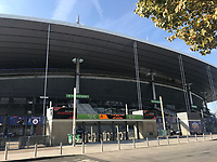 Stade de France Rückwärtiger Eingang, wo die Anschläge stattfanden - 15.10.2018: Pressekonferenz DFB vor dem Spiel Frankreich vs. Deutschland, 4. Spieltag UEFA Nations League, Stade de France, DISCLAIMER: DFB regulations prohibit any use of photographs as image sequences and/or quasi-video.