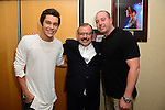 CORAL GABLES, FL - JULY 17: (EXCLUSIVE) Austin Mahone, Lorenzo Muniz and Mike Blumsteen poses backstage during the Premios Juventud 2014 at The BankUnited Center on July 17, 2014 in Coral Gables, Florida.  (Photo by Johnny Louis/jlnphotography.com)