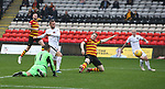 13.10.2018 Partick Thistle v Dundee Utd: Pavol Safranko doubles the lead for Dundee Utd just after the break