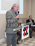 Mayor of Drogheda Frank Godfrey speaking at the official opening of the new Associated Bridge Clubs of Drogheda (ABCD) headquaters on the Fair Green. Photo:Colin Bell/pressphotos.ie
