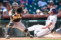 Missouri TIger catcher Ryan Ampleman against the TCU Horned Frogs on Friday March 5th, 2100 at the Astros College Classic in Houston's Minute Maid Park.  (Photo by Andrew Woolley / Four Seam Images)