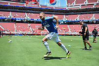Santa Clara, CA - Sunday July 22, 2018: Guram Kashia during a friendly match between the San Jose Earthquakes and Manchester United FC at Levi's Stadium.