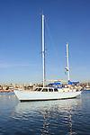 Yacht in Balboa Bay, Newport Harbor