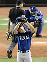 Yu Darvish (Rangers),<br /> JUNE 25, 2013 - MLB :<br /> Yu Darvish of the Texas Rangers reacts after giving up a home run in the sixth inning during the Major League Baseball game at Yankee Stadium in The Bronx, New York, United States. (Photo by AFLO)