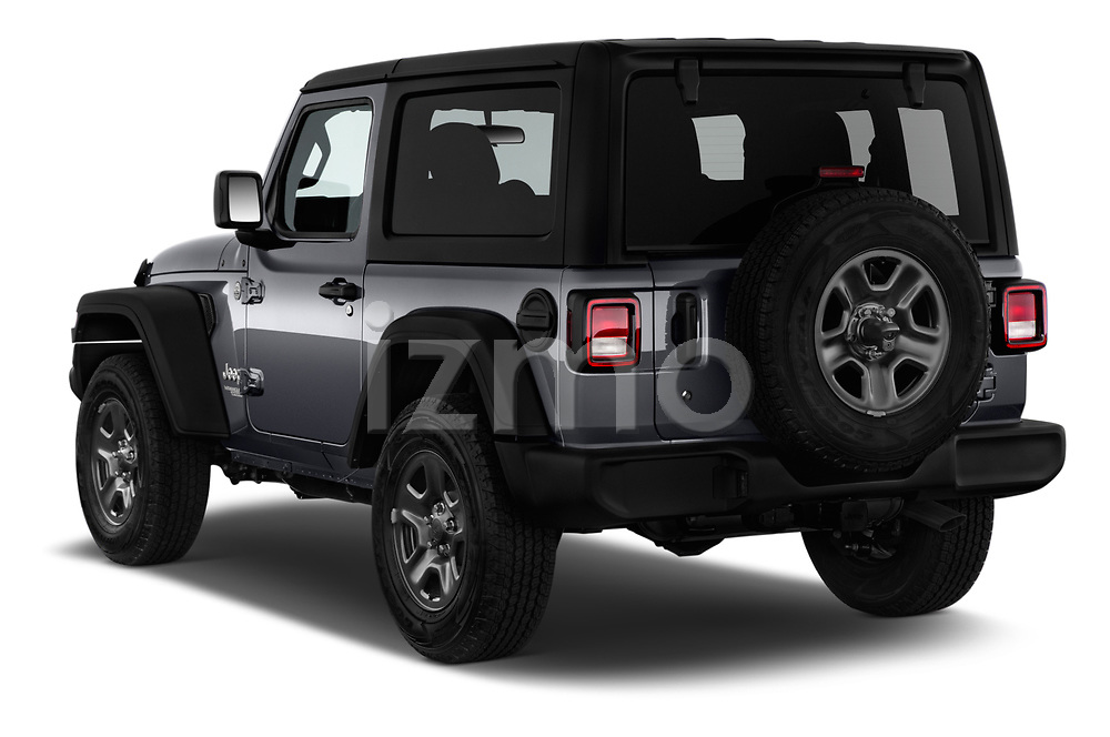 Car pictures of rear three quarter view of 2020 JEEP Wrangler Sport 3 Door SUV Angular Rear