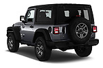Car pictures of rear three quarter view of 2018 JEEP Wrangler Sport 3 Door SUV Angular Rear