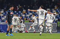 Gervinho of Parma celebrates with team mates after scoring a goal<br /> Napoli 14-12-2019 Stadio San Paolo <br /> Football Serie A 2019/2020 <br /> SSC Napoli - Parma Calcio 1913<br /> Photo Cesare Purini / Insidefoto