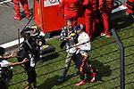 15.04.2018, Shanghai Audi International Circuit, Shanghai, 2018 FORMULA 1 HEINEKEN CHINESE GRAND PRIX, 12.04. - 15.04.2018<br /> im Bild<br />Kai Ebel (RTL) im Gespr&auml;ch mit Max Verstappen (NEL#33), Aston Martin Red Bull Racing<br /> <br /><br /> <br /> Foto &copy; nordphoto / Bratic