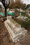Israel, the Upper Galilee. The Muslim cemetery in Tuba-Zangria