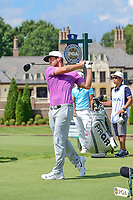 Kevin Chappell (USA) watches his tee shot on 8 during Saturday's round 3 of the PGA Championship at the Quail Hollow Club in Charlotte, North Carolina. 8/12/2017.<br /> Picture: Golffile | Ken Murray<br /> <br /> <br /> All photo usage must carry mandatory copyright credit (&copy; Golffile | Ken Murray)