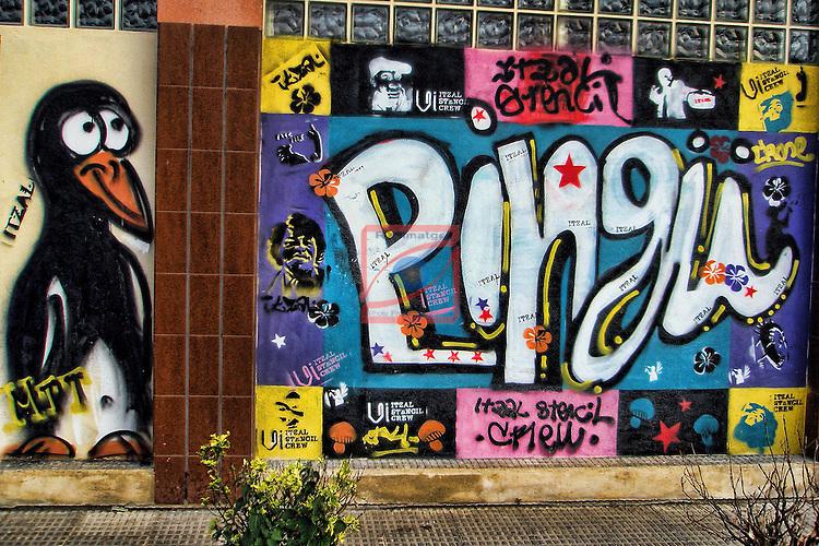 Street Art-Graffittis.<br /> Bilbao.