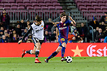 Sergi Roberto Carnicer of FC Barcelona (R) in action against Ferran Torres of Valencia CF (L) during the Copa Del Rey 2017-18 match between FC Barcelona and Valencia CF at Camp Nou Stadium on 01 February 2018 in Barcelona, Spain. Photo by Vicens Gimenez / Power Sport Images
