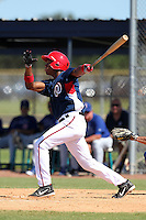 Washington Nationals third baseman Diomedes Eusebio #53 during an Instructional League game against the national team from Italy at Carl Barger Training Complex on September 28, 2011 in Viera, Florida.  (Mike Janes/Four Seam Images)