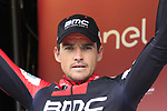 Greg Van Avermaet (BEL) BMC Racing Team finishes in 2nd place on the podium at the end of the 2017 Strade Bianche running 175km from Siena to Siena, Tuscany, Italy 4th March 2017.<br /> Picture: Eoin Clarke | Newsfile<br /> <br /> <br /> All photos usage must carry mandatory copyright credit (&copy; Newsfile | Eoin Clarke)