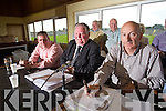 The top table pictured at the Kerry County Board meeting on Monday night were Patrick O'Sullivan, Jerome Conway, Chairman, Peter Twiss, .