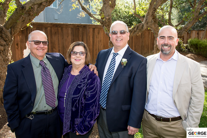 Carol and Mark's wedding celebration with family and friends in Benicia.