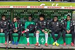 10.02.2019, Weser Stadion, Bremen, GER, 1.FBL, Werder Bremen vs FC Augsburg, <br /> <br /> DFL REGULATIONS PROHIBIT ANY USE OF PHOTOGRAPHS AS IMAGE SEQUENCES AND/OR QUASI-VIDEO.<br /> <br />  im Bild<br /> <br />  auf der Ersatzbank v.li<br /> Joshua Sargent (Werder Bremen #19)<br /> Nuri Sahin (Werder Bremen #17)<br /> Marco Friedl (Werder Bremen #32)<br /> Milos Veljkovic (Werder Bremen #13)<br /> Kevin Möhwald / Moehwald (Werder Bremen #06)<br /> Claudio Pizarro (Werder Bremen #04)<br /> <br /> Foto © nordphoto / Kokenge
