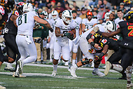 College Park, MD - November 3, 2018:  Michigan State Spartans wide receiver Jalen Nailor (8) runs the ball during the game between Michigan St. and Maryland at  Capital One Field at Maryland Stadium in College Park, MD.  (Photo by Elliott Brown/Media Images International)