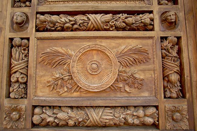 Basilica Santa Croce - Detail Of Door - Florence Italy.