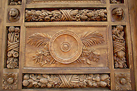 Basilica Santa Croce - Detail Of Door - Florence Italy.