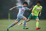 (L to R) <br /> Riko Ueki (Beleza), <br /> Naoko Sakuramoto (JEF Ladies), <br /> SEPTEMBER 17, 2017 - Football / Soccer : <br /> 2017 Plenus Nadeshiko League Division 1 match <br /> between JEF United Ichihara Chiba Ladies 0-1 NTV Beleza <br /> at Frontier Soccer Field in Chiba, Japan. <br /> (Photo by AFLO SPORT)