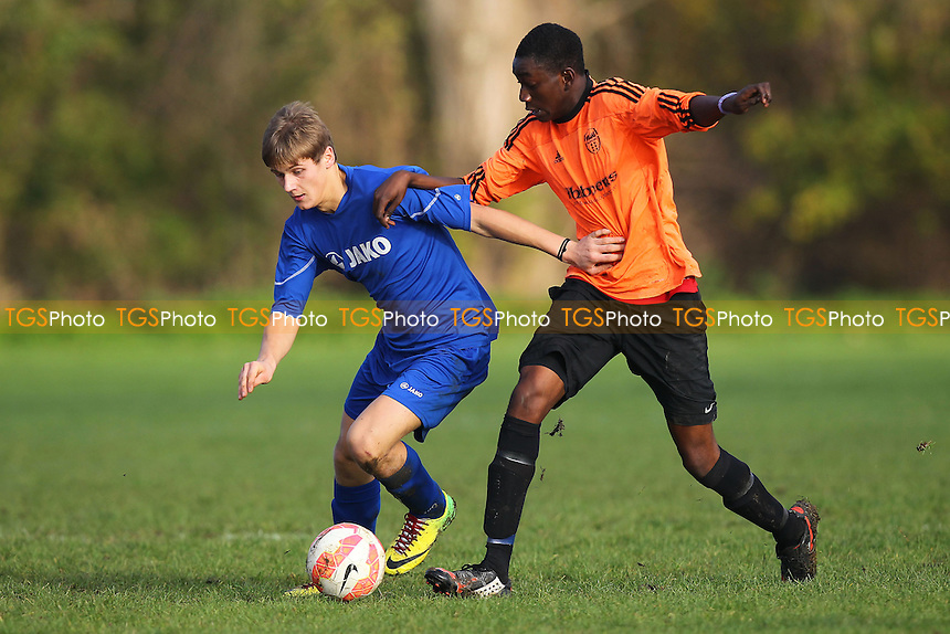 Wojak Sunday (orange/black) vs Lions - Hackney & Leyton Sunday League Dickie Davies Cup Football at South Marsh, Hackney Marshes, London - 30/11/14 - MANDATORY CREDIT: Gavin Ellis/TGSPHOTO - Self billing applies where appropriate - 0845 094 6026 - contact@tgsphoto.co.uk - NO UNPAID USE
