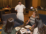 Chef Michael Mahoney talks with guests during a cooking demo inside Charlie Palmer Lounge in the Grand Sierra Resort on Thursday night, October 12, 2017.