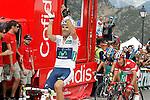 Alberto Contador (c), Joaquin Purito Rodriguez (r) and Alejandro Valverde winner during the stage of La Vuelta 2012 between Lleida-Lerida and Collado de la Gallina (Andorra).August 25,2012. (ALTERPHOTOS/Acero)