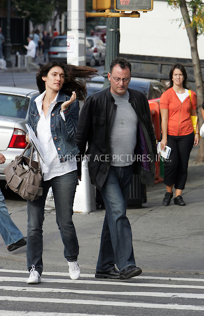 WWW.ACEPIXS.COM . . . . . ....October 23 2007, New York City....**EXCLUSIVE COVERAGE - ALL ROUNDER**....French actor Jean Reno and his wife model Zofia Borucka were spotted in the West Village area of Manhattan.....Please byline: DAVID MURPHY - ACEPIXS.COM.. . . . . . ..Ace Pictures, Inc:  ..(646) 769 0430..e-mail: info@acepixs.com..web: http://www.acepixs.com
