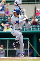 Midland RockHounds second baseman Colin Walsh (6) at bat during the Texas League baseball game against the San Antonio Missions on June 28, 2015 at Nelson Wolff Stadium in San Antonio, Texas. The Missions defeated the RockHounds 7-2. (Andrew Woolley/Four Seam Images)