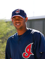 Kelvin De La Cruz - Cleveland Indians 2009 Instructional League. .Photo by:  Bill Mitchell/Four Seam Images..