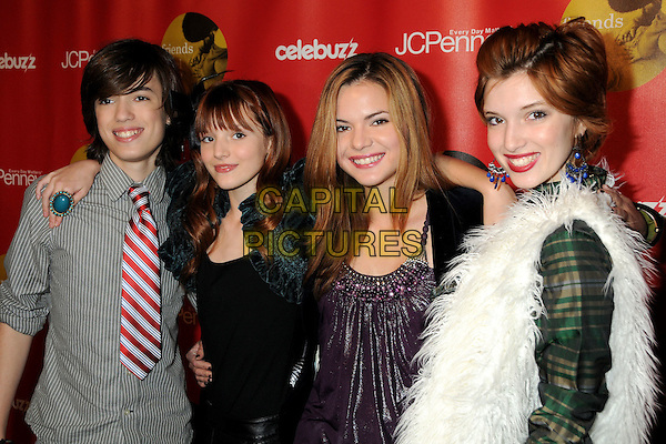 "REMY, BELLA KAILI & DANI THORNE .JCPenny's ""Joy of Giving"" Holiday Event held at the Sunset Tower Hotel, West Hollywood, California, USA,West Hollywood, California, USA, .15th December 2009.half length family group brother sisters sister .CAP/ADM/BP.©Byron Purvis/AdMedia/Capital Pictures."