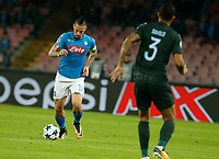 Marek Hamsik  during the Champions League Group  soccer match between SSC Napoli - Manchester City   at the Stadio San Paolo in Naples 01 nov 2017