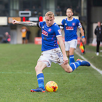 Nicky Adams of Carlisle crosses in during the Sky Bet League 2 match between Newport County and Carlisle United at Rodney Parade, Newport, Wales on 12 November 2016. Photo by Mark  Hawkins.