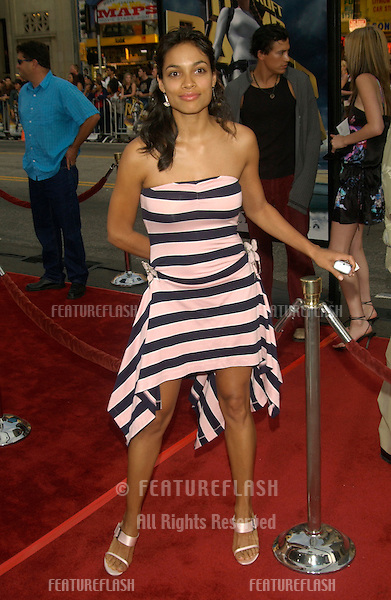Actress ROSARIO DAWSON at the world premiere of Lara Croft Tomb Raider: The Cradle of Life, at Grauman's Chinese Theatre, Hollywood..July 21, 2003