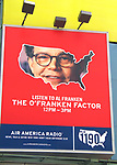 Al Franken Billboard promoting  The O'Franken Factor radio show airing from 12 - 3pm daily on Air America Radio in Times Square, <br />New York City.<br />August 8, 2004