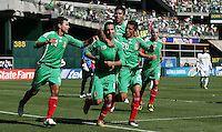 Luis Miguel Noriega (19) celebrates his goal with teammates. Mexico defeated Nicaragua 2-0 during the First Round of the 2009 CONCACAF Gold Cup at the Oakland Coliseum in Oakland, California on July 5, 2009.