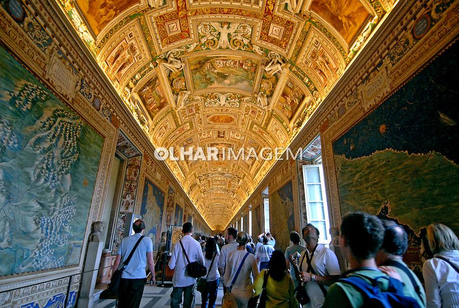 Galeria das Cartas Geográficas. Museus do Vaticano. Roma. Itália. 2006. Foto de Luciana Whitaker.