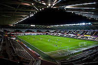 Monday 20 January 2014<br /> Pictured:View of the Liberty Stadium, Swansea<br /> Re: Swansea City U21 v Cardiff City U21 at the Liberty Stadium, Swansea Wales