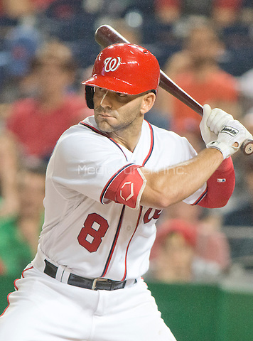 Washington Nationals shortstop Danny Espinosa (8) bats in the fourth inning after the rain delay against the New York Mets at Nationals Park in Washington, D.C. on Tuesday, June 28, 2016.  The Nationals won the game 5 - 0.<br /> Credit: Ron Sachs / CNP/MediaPunch ***FOR EDITORIAL USE ONLY***