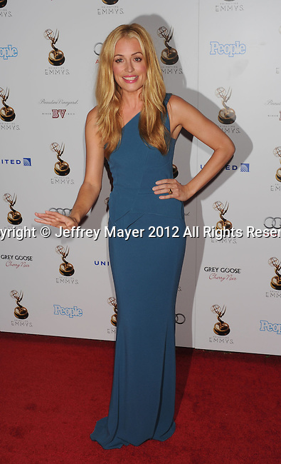 WEST HOLLYWOOD, CA - SEPTEMBER 21: Cat Deeley attends the 64th Primetime Emmy Awards Performers Nominee reception held at Spectra by Wolfgang Puck at the Pacific Design Center on September 21, 2012 in West Hollywood, California.