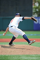 Brooklyn Cyclones pitcher Kelly Secrest (19) during game against the Williamsport Crosscutters at MCU Park on July 21, 2014 in Brooklyn, NY.  Brooklyn defeated Williamsport  5-2.  (Tomasso DeRosa/Four Seam Images)