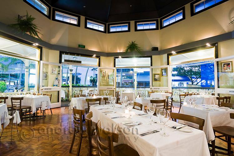 Interior of C'est Bon Restaurant.  Cairns, Queensland, Australia