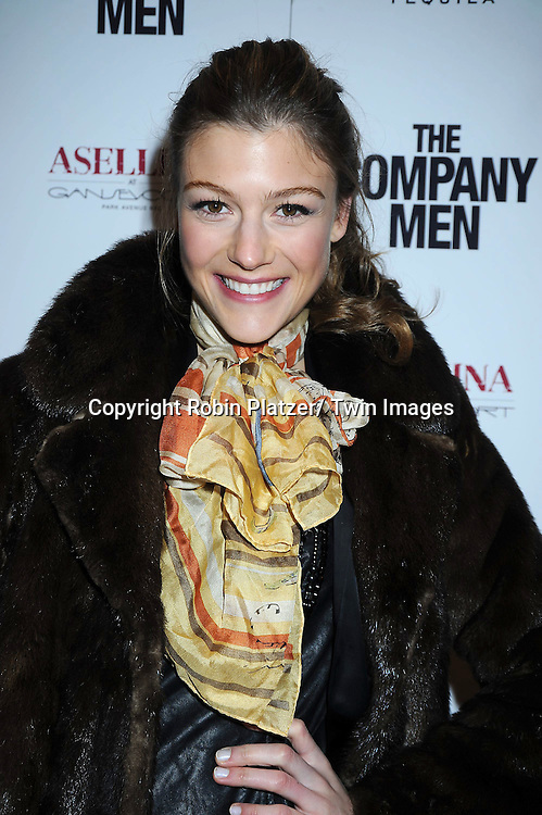 """Alex Knight attending The New York Screening .of """"The Company Men"""" on December 8, 2010 at The Paris Theatre in New York City. The movie stars Ben Affleck."""