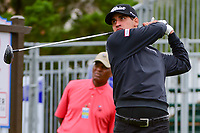 Dominic Bozzelli (USA) watches his tee shot on 10 during round 3 of the Valero Texas Open, AT&amp;T Oaks Course, TPC San Antonio, San Antonio, Texas, USA. 4/22/2017.<br /> Picture: Golffile | Ken Murray<br /> <br /> <br /> All photo usage must carry mandatory copyright credit (&copy; Golffile | Ken Murray)