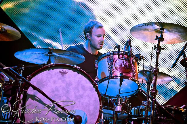 OneRepublic performs at Bank of America Pavilion in Boston, Massachusetts August 1, 2013