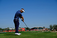 Soren Kjeldsen (DEN) on the 9th tee during the 3rd round of the Abu Dhabi HSBC Championship, Abu Dhabi Golf Club, Abu Dhabi,  United Arab Emirates. 19/01/2020<br /> Picture: Fran Caffrey | Golffile<br /> <br /> <br /> All photo usage must carry mandatory copyright credit (© Golffile | Fran Caffrey)