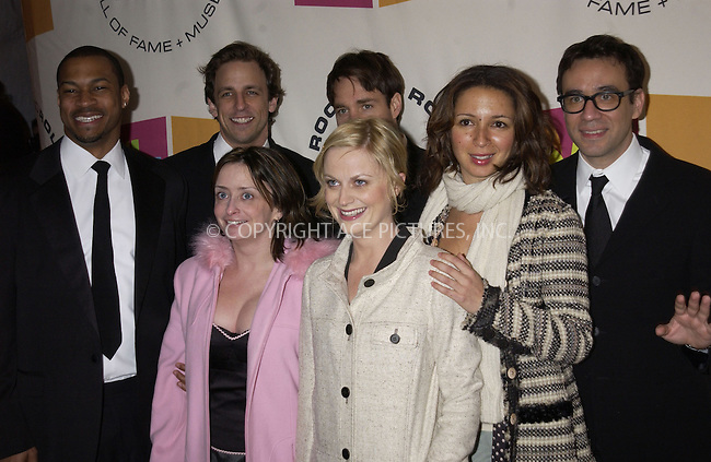 WWW.ACEPIXS.COM . . . . . ....NEW YORK, MARCH 14, 2005....SNL Cast (including Rachel Dratch, Amy Poehler, Maya Rudolph, Fred Armisen, Will Forte, Seth Meyers, and Finnese Mitchell) at the 20th Annual Rock And Roll Hall Of Fame Induction Ceremony at the Waldorf Astoria Hotel.....Please byline: KRISTIN CALLAHAN - ACE PICTURES.. . . . . . ..Ace Pictures, Inc:  ..Philip Vaughan (646) 769-0430..e-mail: info@acepixs.com..web: http://www.acepixs.com